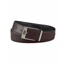 Salvatore Ferragamo  - Pebbled Reversible Leather Belt