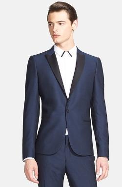 The Kooples - Trim Fit Single Button Tuxedo Jacket