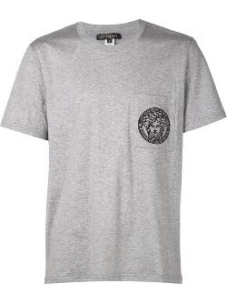 Versace - Medusa Embroidered Pocket T-Shirt