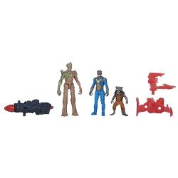 Marvel  - Guardians of The Galaxy Groot, Rocket Raccoon and Nova Corps Officer Figure