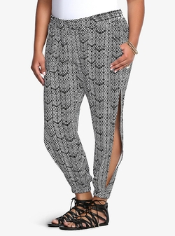 Torrid - Chevron Print Side Split Challis Pants