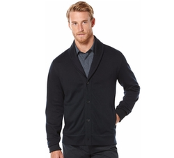 Perry Ellis - Textured Knit Shawl Cardigan