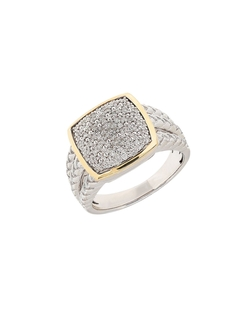 Lord & Taylor - Diamond Sterling Silver & Yellow Gold Ring