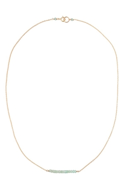 Leah Alexandra - Beaded Bar Pendant Necklace