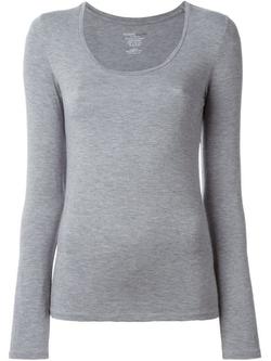 Majestic Filatures - Scoop Neck Long Sleeve T-Shirt