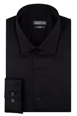 Kenneth Cole Reaction  - Slim-Fit Solid Velvet Trim Dress Shirt
