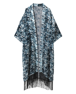 Simply Be - Fringed Burnout Kimono