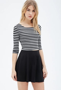 Forever 21 - Striped Crop Top