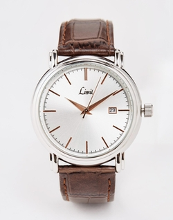 Asos - Limit Brown Strap Watch