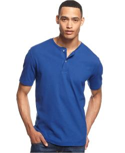 Club Room - Short Sleeve Solid Performance Henley