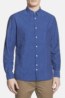 J. Lindeberg  - Dani Solid Long Sleeve Trim Fit Sport Shirt