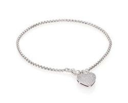 Adriana Orsini - Pave Heart Charm Bracelet
