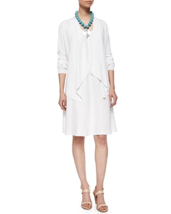 Eileen Fisher - Sleeveless Linen Bias Dress