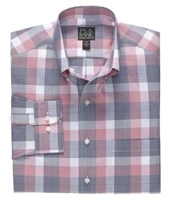 Jos A. Bank. - Traveler Long Sleeve Patterned Cotton Buttondown Sportshirt