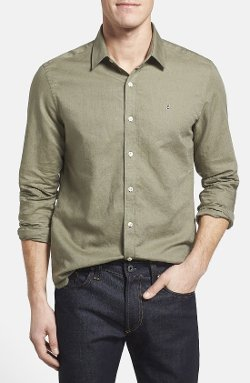 Victorinox Swiss Army - Tailored Fit Linen & Cotton Sport Shirt