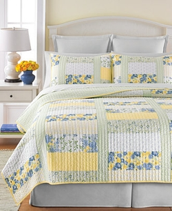 Martha Stewart Collection - Blue & Yellow Patchwork Posey Quilts