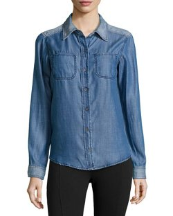 Michael Stars - Denim Button-Down Shirt