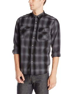 Modern Culture - Textured Plaid Shirt