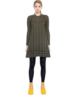 M Missoni  - Viscose Wool Knit Dress
