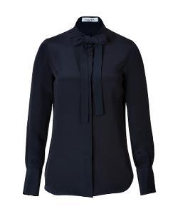 Valentino  - Silk Tie Neck Blouse