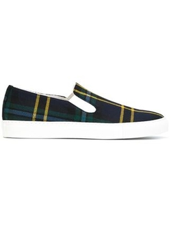 Comme Des Garçons Shirt  - Check Slip On Sneakers