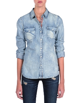 Blank NYC - Embroidered Denim Shirt