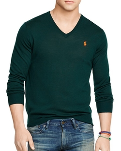 Polo Ralph Lauren  - Slim-Fit Merino V-Neck Sweater