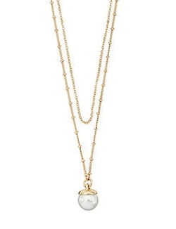 The Limited - Double Stranded Pearl Necklace