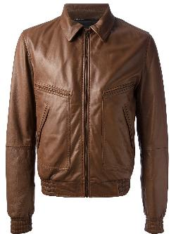 Dolce & Gabbana  - Classic Leather Jacket