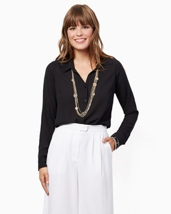 Charming Charlie - Classic Button-Down Blouse