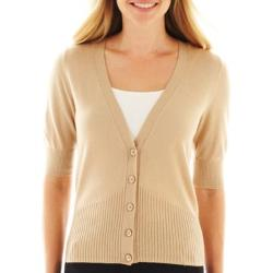 Worthington - Elbow-Sleeve Cardigan Sweater