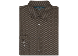 Perry Ellis  - Geometric Print Button-Front Shirt