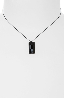 Topshop - Black Stone Drop Necklace