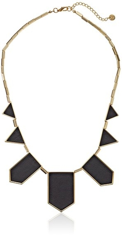 House Of Harlow 1960 - Leather Station Necklace