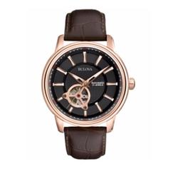Bulova - Automatic Leather Automatic Watch