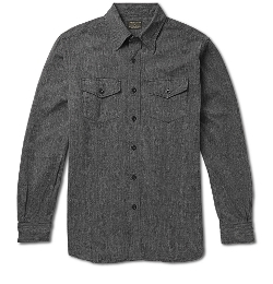 Jean Shop   - Selvedge Chambray Workshirt