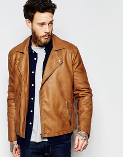Asos - Faux Leather Biker Jacket