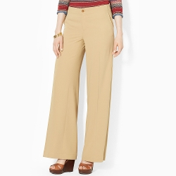Ralph Lauren - Wide-Leg Sueded-Crepe Pants