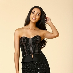 InVogue Usa Boutique - Embroidered Bustier Top