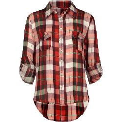 FULL TILT  - Studded Plaid Girls Shirt