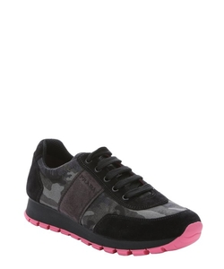 Prada -  Nylon Running Sneakers