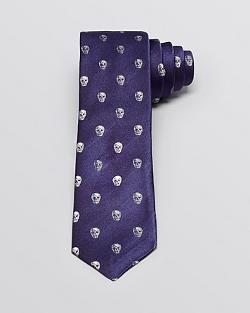 John Varvatos -  Skull Print Skinny Tie