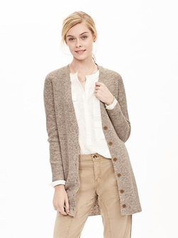 Banana Republic - Ribbed Long Sweater Cardigan