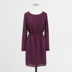 J.Crew - Long-Sleeve Printed Dress
