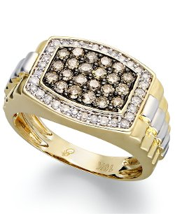 R.H. Macy & Co. Fine Jewelry - 10k Gold and White Gold Ring Diamond