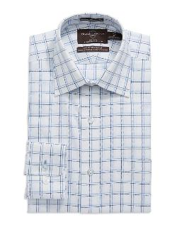 Black Brown 1826 - Checkered Classic Fit Dress Shirt