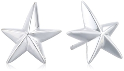 Argento Vivo - Star High Polish Stud Earrings