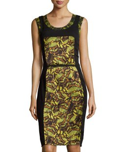Philosophy di Alberta Ferretti  - Printed Silk Inset Dress