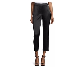 St. John - Satin Side Zip Cropped Pants