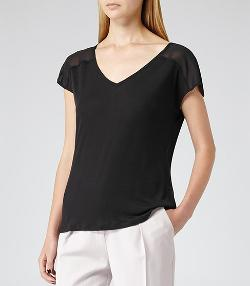 Breeze - Sheer V-Neck T-Shirt